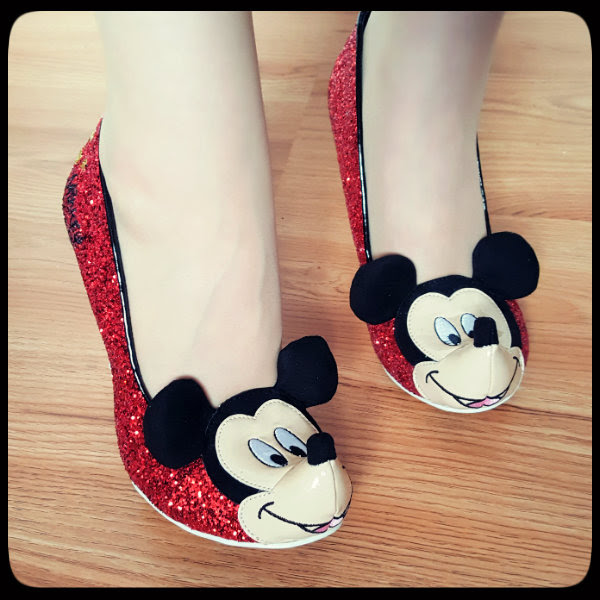 irregular choice mickey mouse glitter shoes