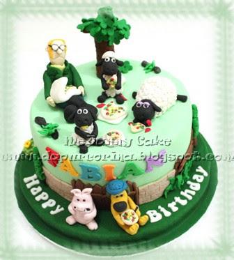 Cake Ulang Tahun Anak Shaun The Sheep Pizza Time 11022011