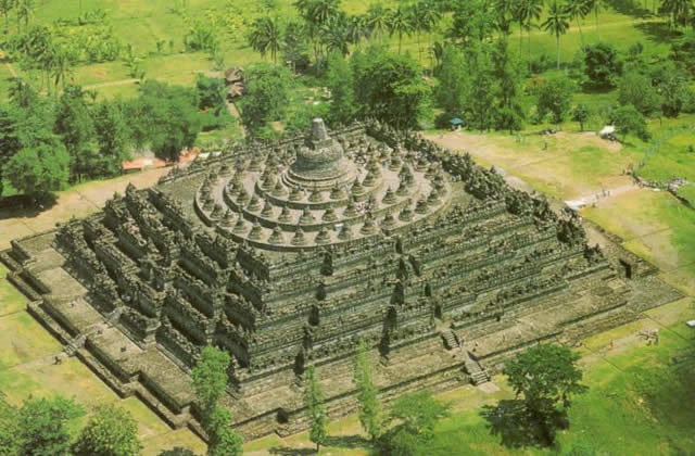 The Borobudur Temple - Kedu Valley - Central Java, island of Java, Indonesia