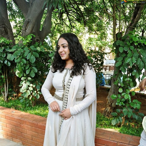 Nithya Menen latest hot photos in churidar from OK Kanmani audio success meet