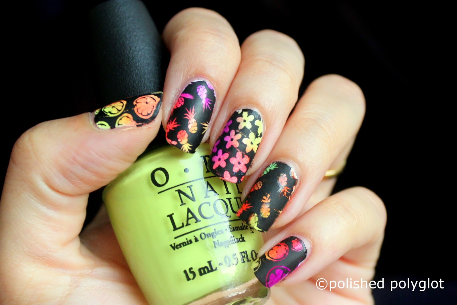 Nail art │ Neon and black nail design [Nail crazies unite ...