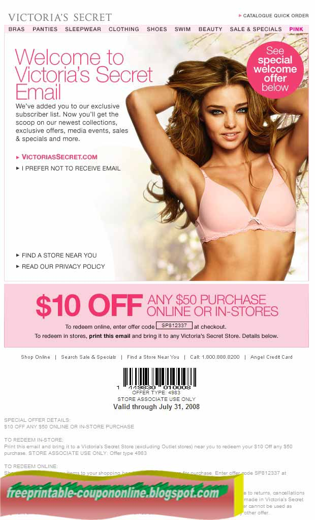 Victoria secret coupon december 2018