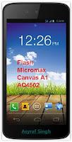 Flash Bricked / Bootloop Micromax Canvas A1 AQ4502.