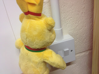 Pom Bear Switching The Lights off to go home