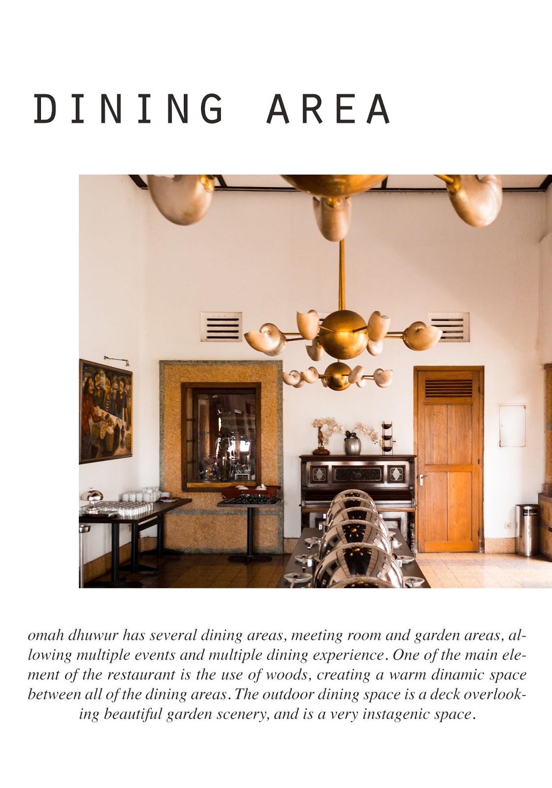 luxurious dining area omah dhuwur resto jogja