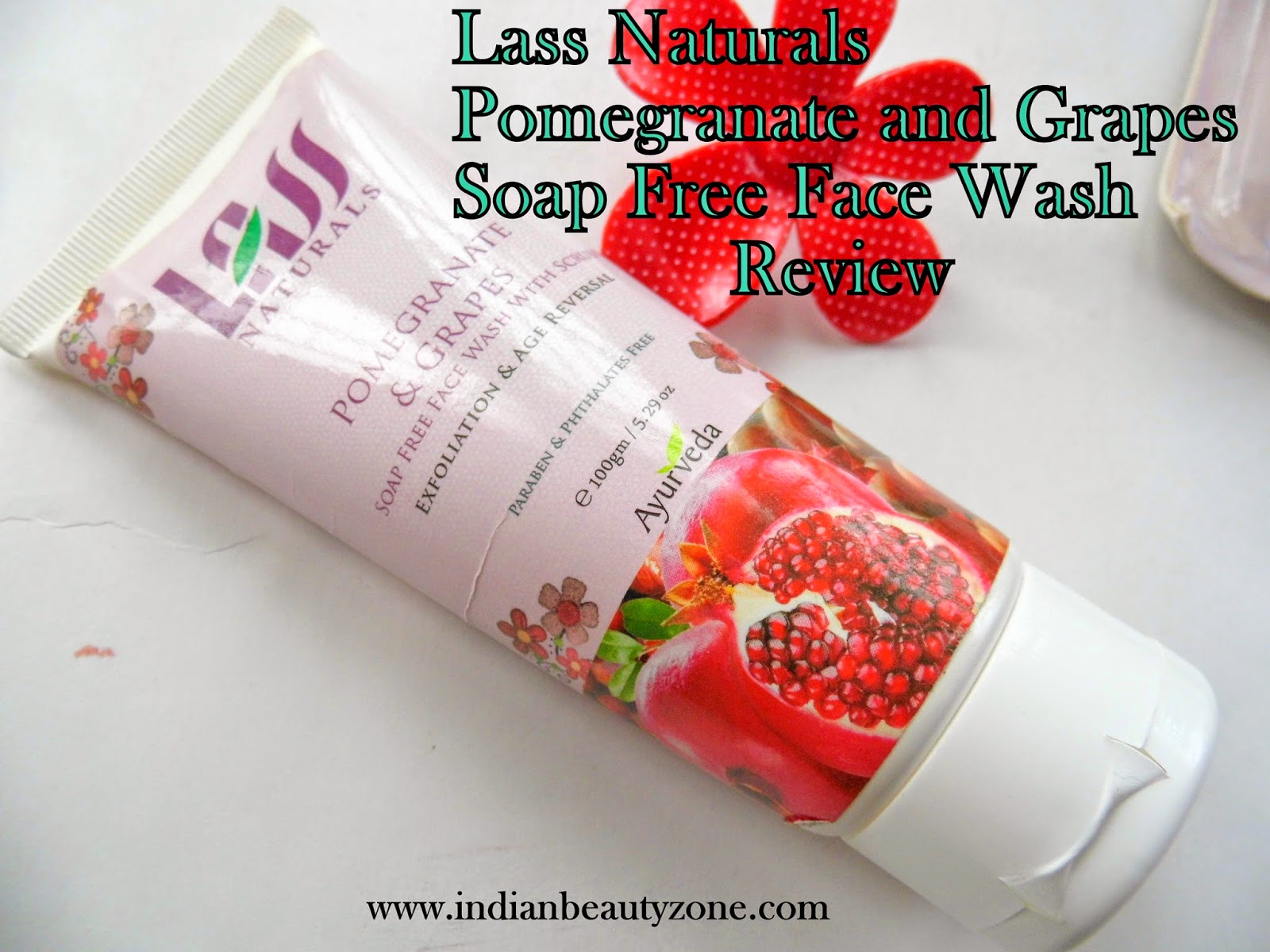 Anti aging face wash, soap free wash