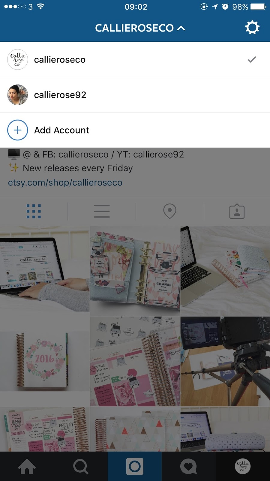 add a second instagram account