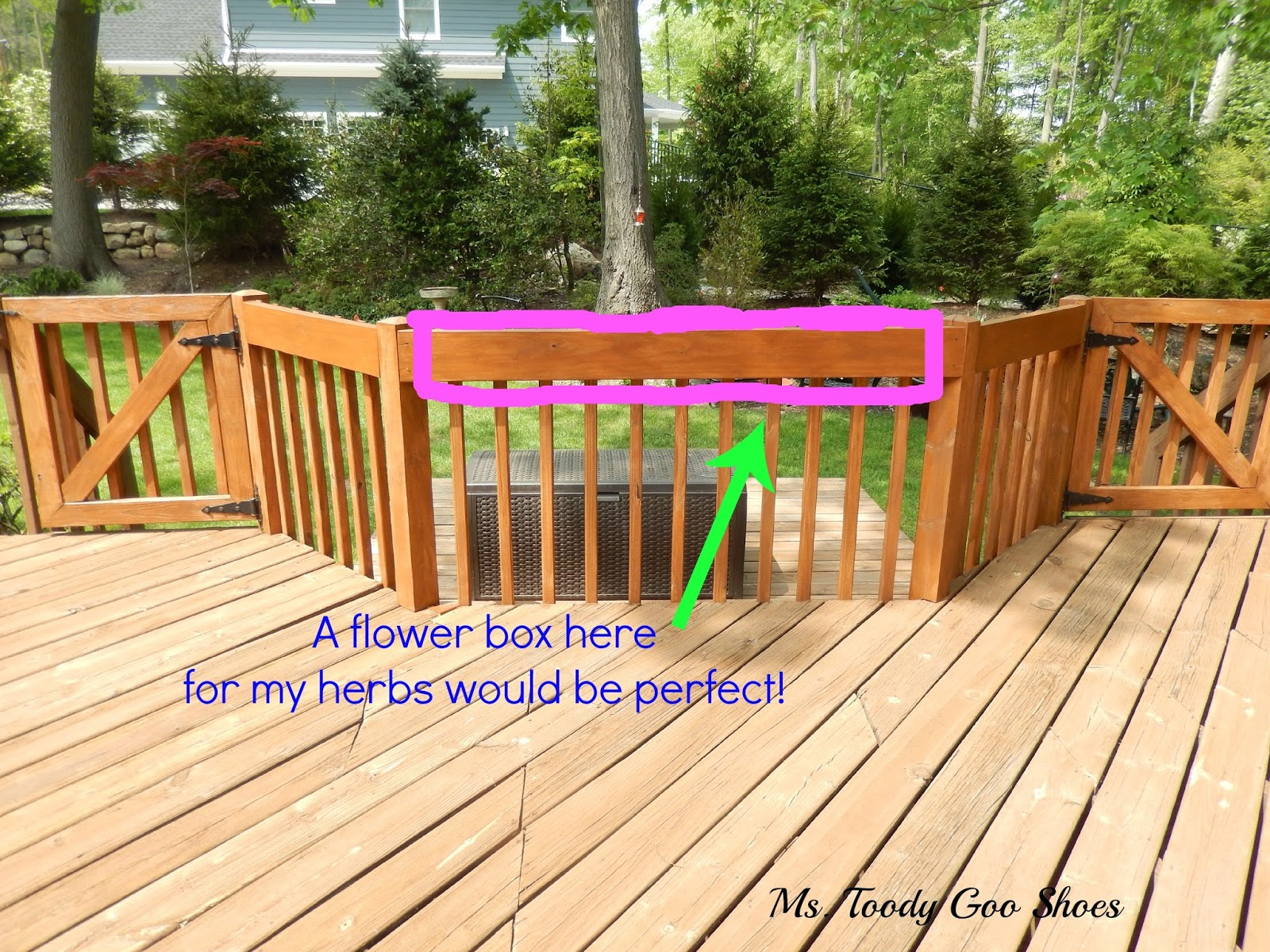 Make A Flower Box For The Deck --- Ms. Toody Goo Shoes