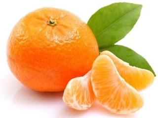 Mandarino fresco e spicchi