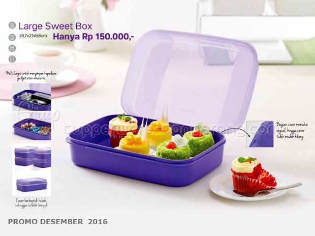 Large Sweet Box Promo Tupperware Desember 2016