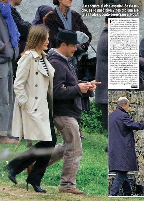 "Queen Letizia arrived at Bustaviejo to attend the last day of filming of Fernando Trueba's new film ""La Reina de España"" (The Queen of Spain) starring Penélope Cruz, Jorge Sanz and Antonio Resines among others."