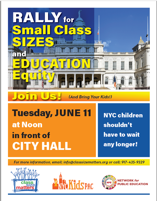 Rally for smaller classes!