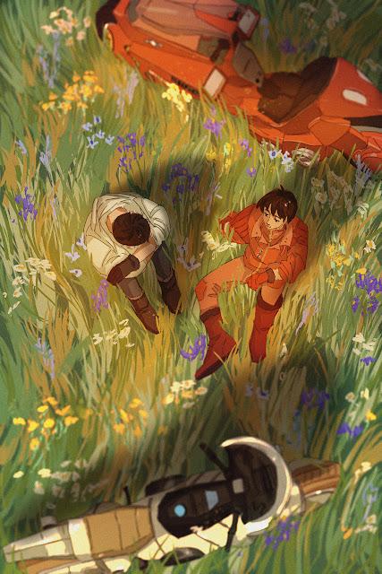 Tetsuo & Kaneda by Lexin Yuan