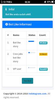 Cara Mudah Menggunakan Bot Instagram Agar Like (Love) Berjalan Automatis di Timeline