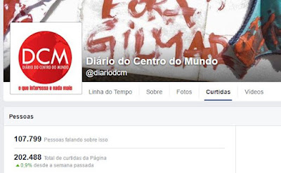 Dados Facebook do blog DCM