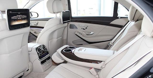Băng sau Mercedes S450 L Luxury 2018 thiết kế rộng rãi,thoải mái với đầy đủ các tiện ích
