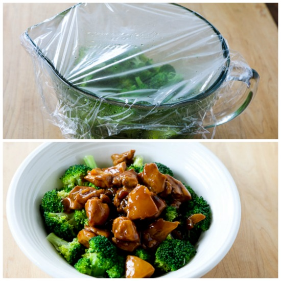 Slow Cooker Asian Chicken Broccoli Bowls found on KalynsKitchen.com