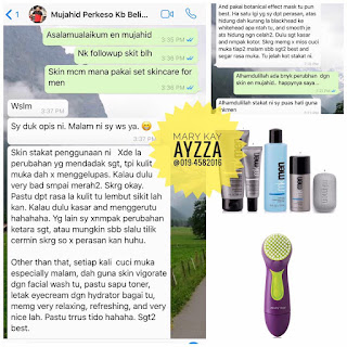 Mary kay mk men skincare testimoni