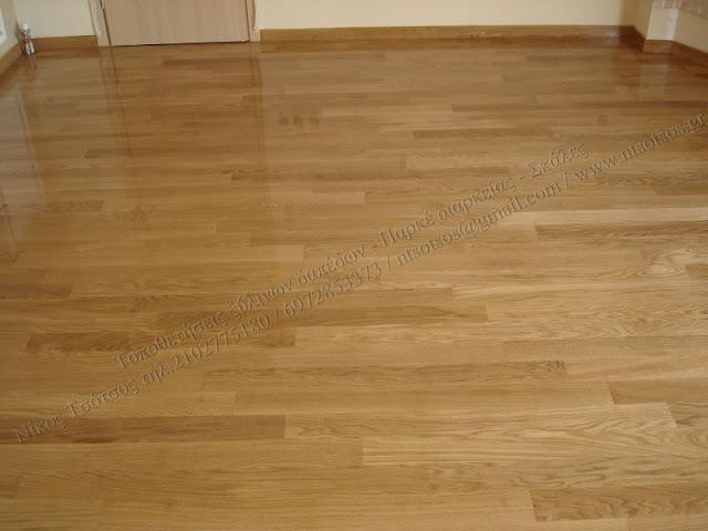 Λουστράρισμα ξύλινων δαπέδων