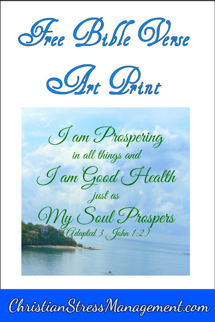 I am prospering in all things and I am in good health just as my soul prospers (Adapted 3 John 1:2)