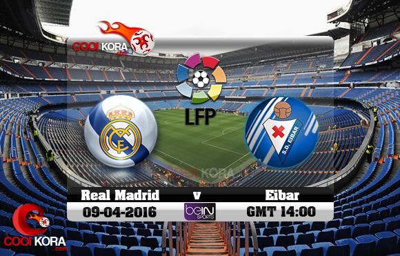 مشاهدة مباراة ريال مدريد وإيبار اليوم 9-4-2016 في الدوري الأسباني