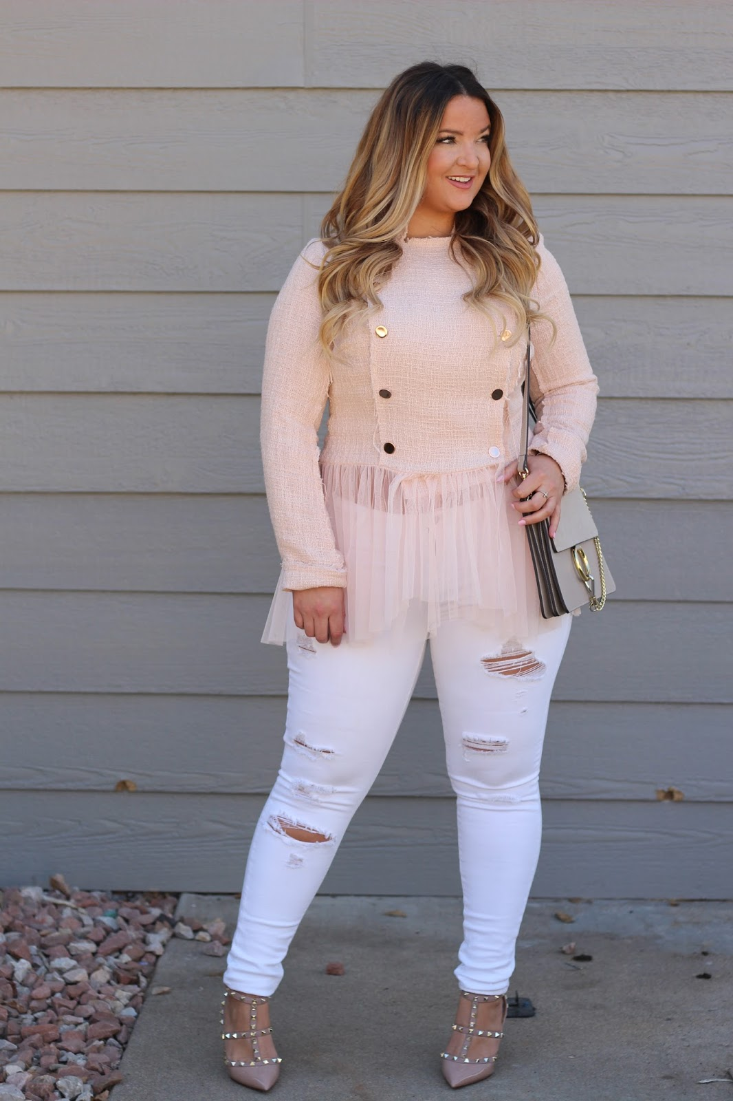 Pink Tulle jacket by popular Denver fashion blogger Delayna Denaye