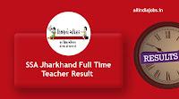 SSA Jharkhand Full Time Teacher Result