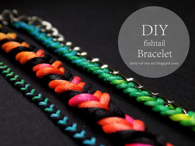 DIY Bransoletka 'fishtail'