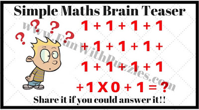 Simple Maths Brain Teaser