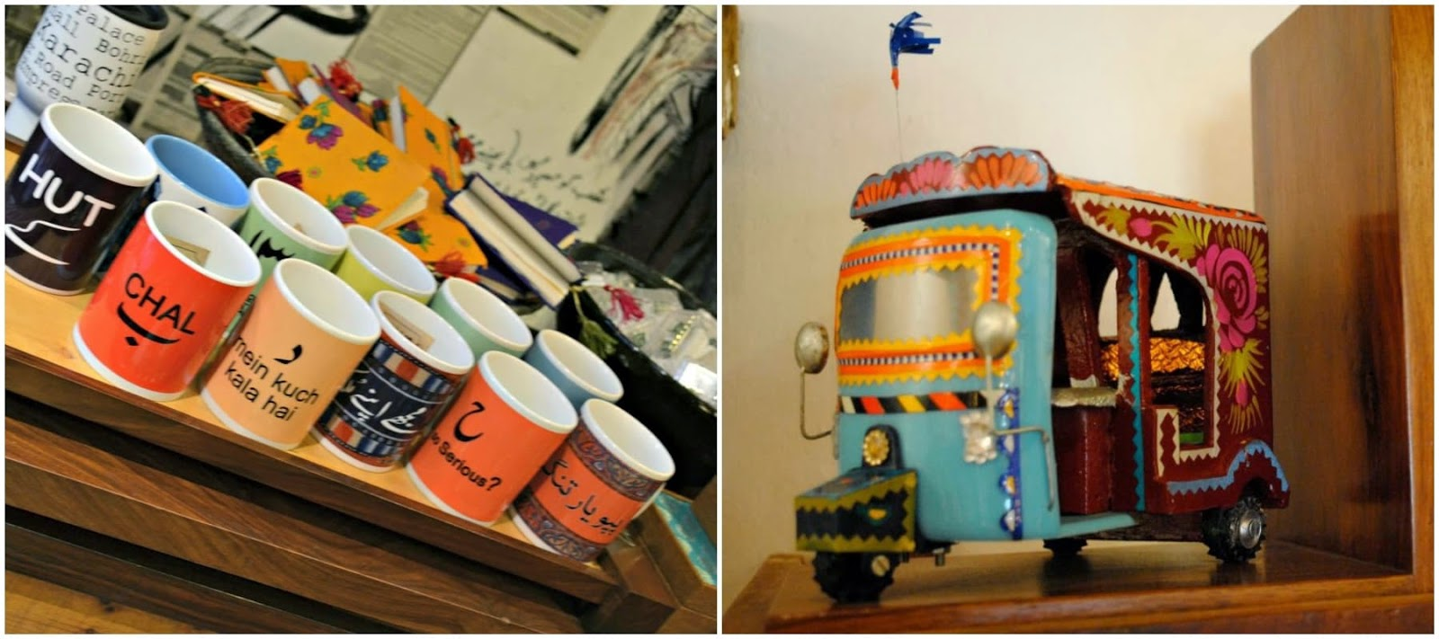 tali mugs rickshaws decor pieces