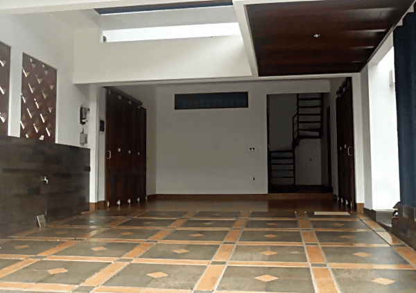ragam motif keramik lantai garasi mobil minimalis