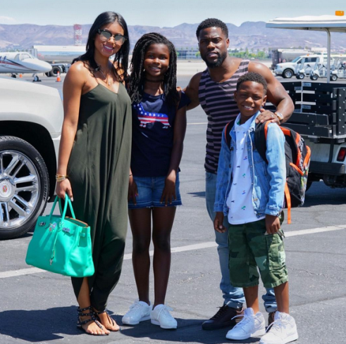 Check Out This Beautiful photo of Kevin Hart and his family..
