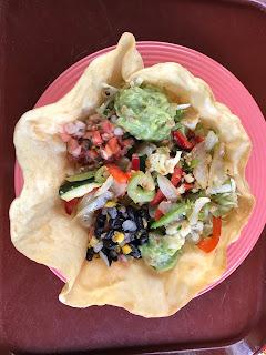 Vegan tostada salad