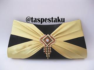 Handmade Tas Pesta Hitam dan Gold Cantik Unik