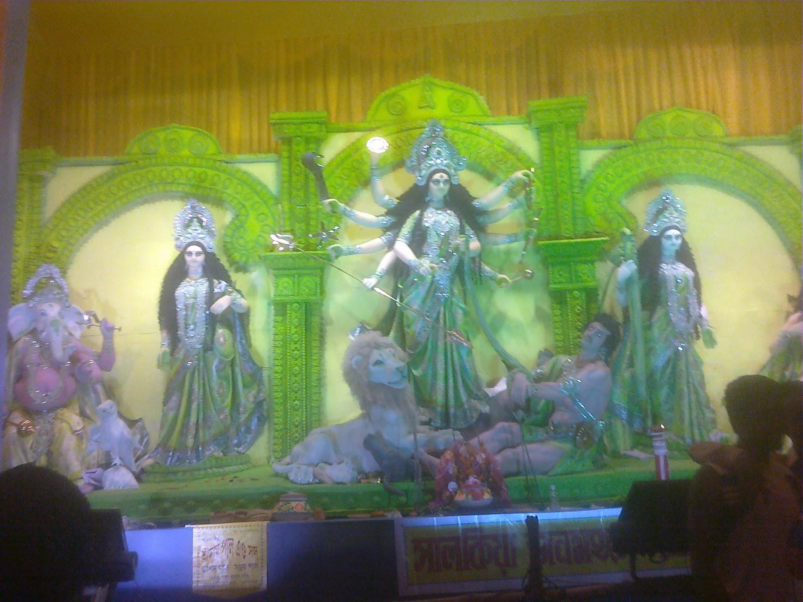 durgapuja kolkata 2011 godess durga hindu deity maa durga lakshmi saraswati kartik ganesh