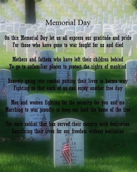 Memorial Day Poems with Images qoutes