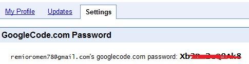 Klik tab Profile – Setting  dan catat password