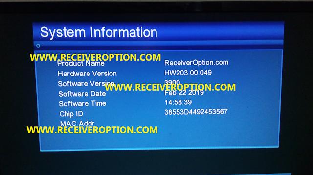 GX6605S HARDWARE VERSION HW203.00.049 POWERVU KEY NEW SOFTWARE