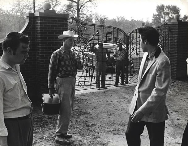 In 1957 Elvis Presley is at his Graceland home seen here in this picture