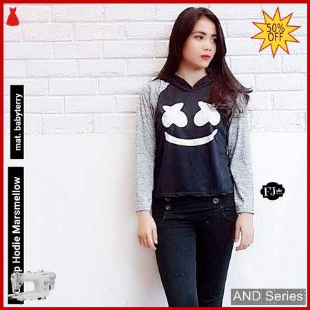 AND325 Baju Atasan Wanita Kaos Marsmello Hoodie BMGShop