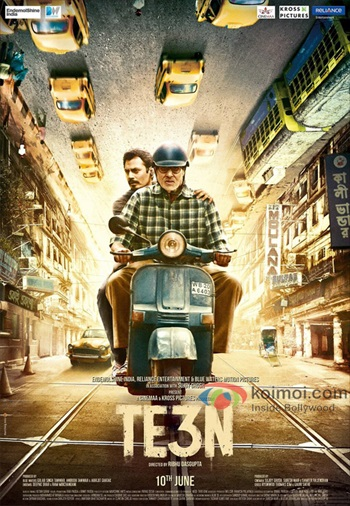 TE3N 2016 Hindi 480p DVDRip 400mb