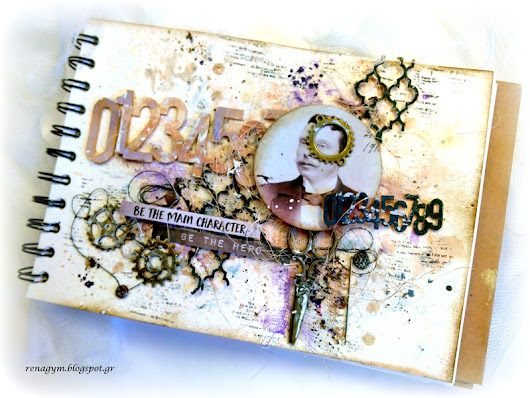 Art journal Page Guest work for The Mini Art, Be the main Character...