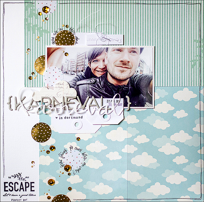 Stephanie Berger - Scrapbooking Layout - Karneval Dortmund