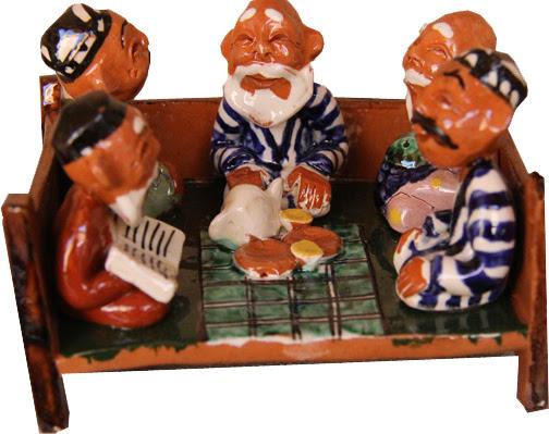 Ouzbékistan, Richtan, figurine, céramique, tapshan, tapchane, © L. Gigout, 2012