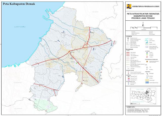 Peta Administrasi Kabupaten Demak