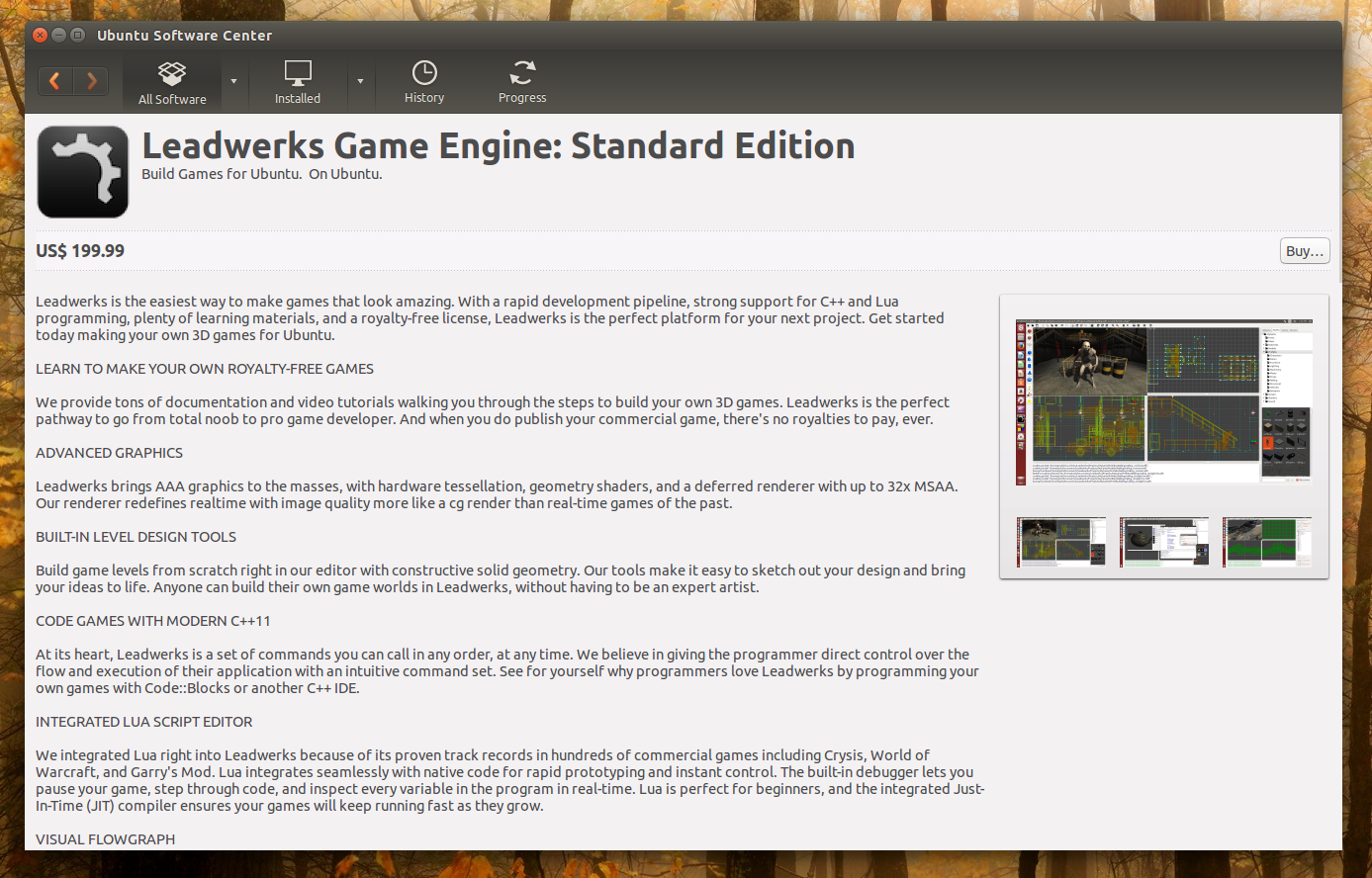 Leadwerks Game Engine Available In Ubuntu Software Center Native Linux Game Development Software Web Upd8 Ubuntu Linux Blog