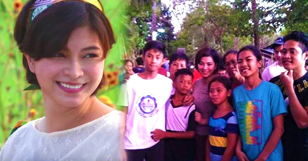 Kindness At Its Finest! Angel Locsin Was Spotted Hanging Out With Fans In The Set Of La Luna Sangre!