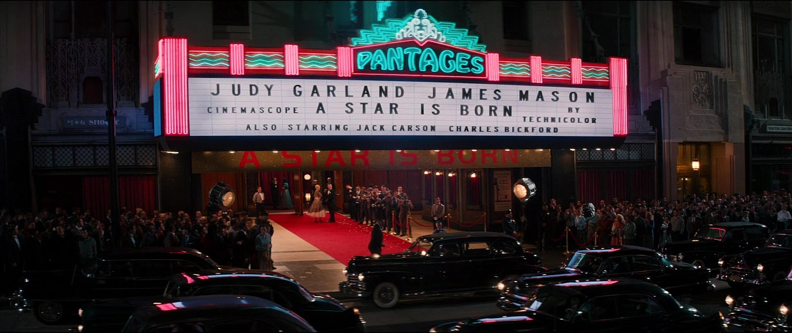 """A re-creation of the 1954 look at the """"A Star Is Born"""" premiere for Anton Corbijn's film """"Life"""" (Cinedigm, 2015). It's about Life magazine photographer ..."""