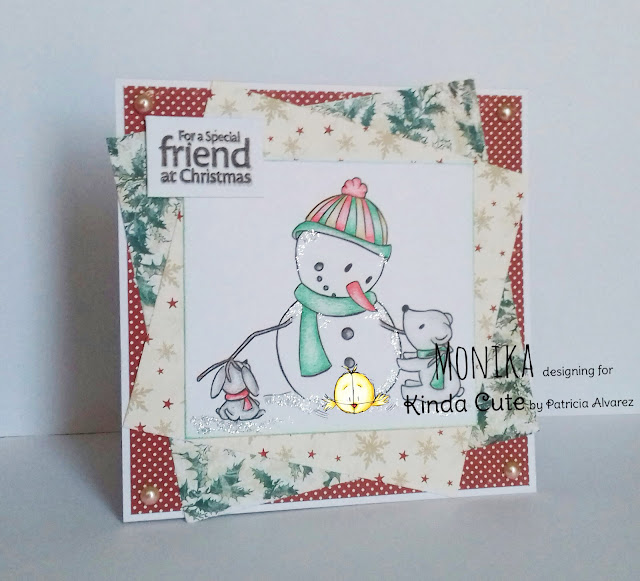 Card using snowman and friends digital stamp