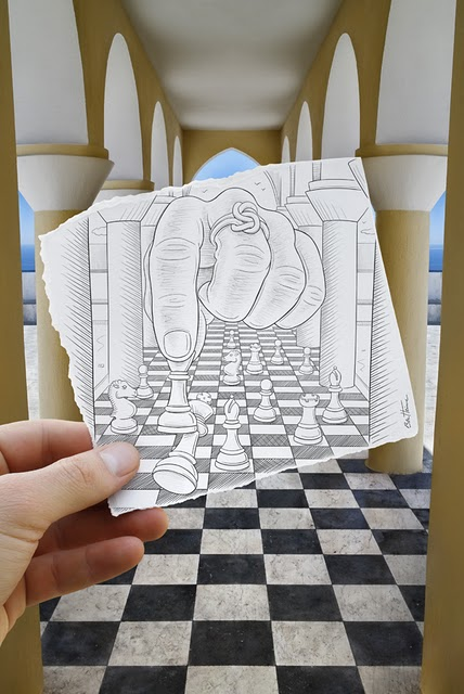 1001Archives: Amazing Pencil vs Camera Drawings by Ben Heine